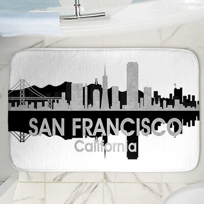 Angelina Vicks San Francisco Memory Foam Bath Rug Size: 24 W x 17 L