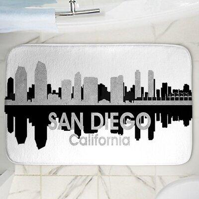 Angelina Vick's San Diego Memory Foam Bath Rug Size: 17