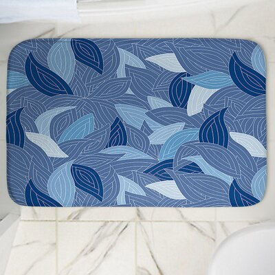 Leaves Memory Foam Bath Rug Size: 24 W x 17 L