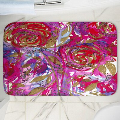 Rose Combustion Memory Foam Bath Rug Size: 17 W x 24 L
