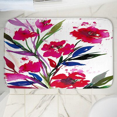 Pocketful Posies Rectangle Memory Foam Bath Rug Size: 17 W x 24 L