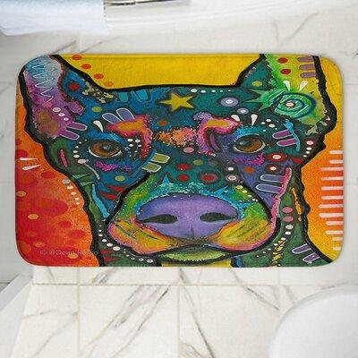 Dean Russos Doberman Dog 17 Memory Foam Bath Rug Size: 36 W x 24 L
