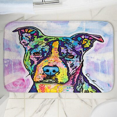 Dean Russos Illustrious Pitbull Dog Memory Foam Bath Rug Size: 24 W x 17 L
