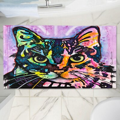 Dean Russos Maya Cat Memory Foam Bath Rug Size: 24 W x 17 L