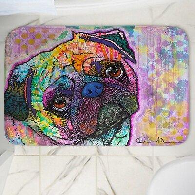 Dean Russos Pug Love Dog Memory Foam Bath Rug Size: 24 W x 36 L