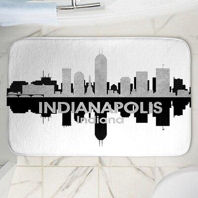 Angelina Vicks Indianapolis Memory Foam Bath Rug Size: 24 W x 36 L