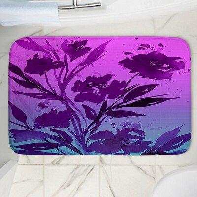 Pocketful Posies Memory Foam Bath Rug Size: 24 W x 17 L