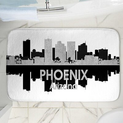 Angelina Vicks Phoenix Memory Foam Bath Rug Size: 24 W x 17 L