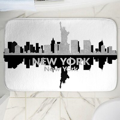 Angelina Vicks New York Memory Foam Bath Rug Size: 24 W x 17 L
