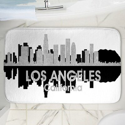 Angelina Vicks Los Angeles Memory Foam Bath Rug Size: 24 W x 17 L