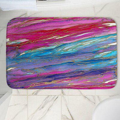 Agate Magic Memory Foam Bath Rug Size: 24 W x 17 L