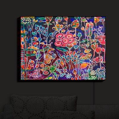'Night Bloom' Print on Wood