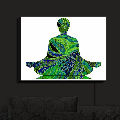 'Man Woman Yoga II' Print on Wood BLMT7973 43042743