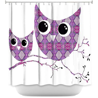 Holthaus Ombre Pattern I Shower Curtain Color: Purple