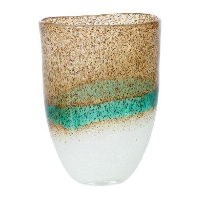 "Artistic Glass Vase Size: 9.75"" H x 6.5"" W x 4.5"" D 11798114671"