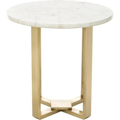 Quartz Round End Table