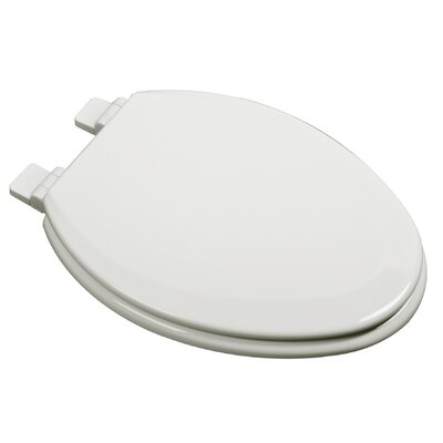 Slow Close Deluxe Molded Wood Elongated Toilet Seat Finish: Biscuit
