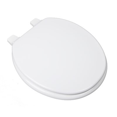 Builder Grade Molded Round Wood Toilet Seat with Adjustable Hinge