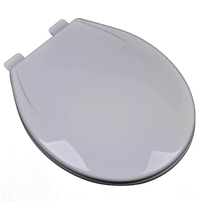 Slow Close Plastic Contemporary Round Toilet Seat Finish: Silver/Gray