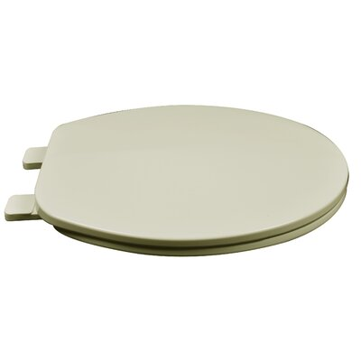 Builder Grade Plastic Round Toilet Seat Finish: Bone