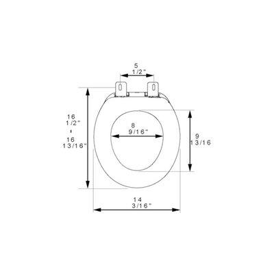 Builder Grade Plastic Round Toilet Seat