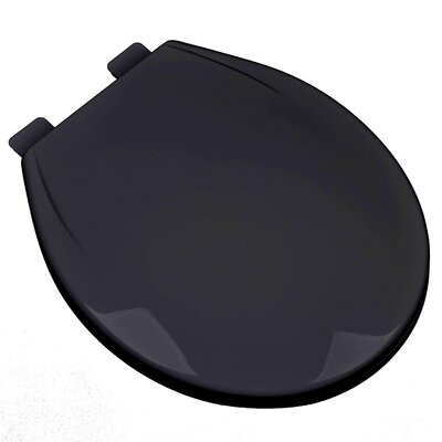 Slow Close Plastic Contemporary Round Toilet Seat Finish: Black