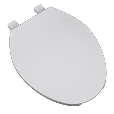 Deluxe Plastic Contemporary Round Toilet Seat Finish: White