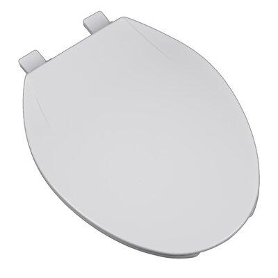 Deluxe Plastic Contemporary Round Toilet Seat Finish: White