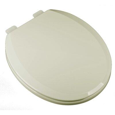 Deluxe Slow Close Plastic Round Toilet Seat Finish: Bone