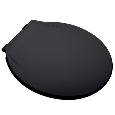 MRO Grade Plastic Round Toilet Seat Finish: Black