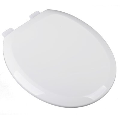 Slow Close Premium Plastic Round Toilet Seat Finish: Cotton White
