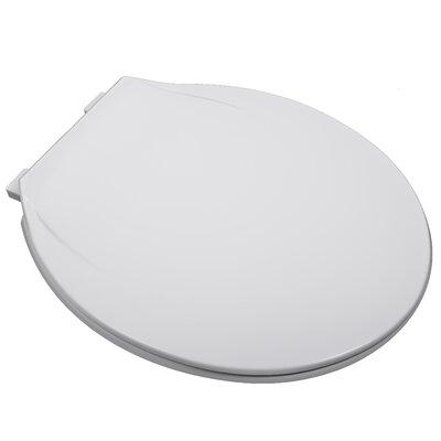 MRO Grade Plastic Round Toilet Seat Finish: White