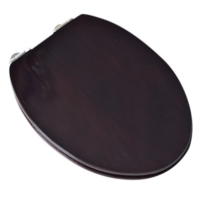 Contemporary Full Cover Solid Oak Wood Elongated Toilet Seat Finish: Classic Mahogany