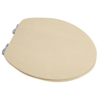 Contemporary Full Cover Solid Oak Wood Elongated Toilet Seat Finish: Antique White