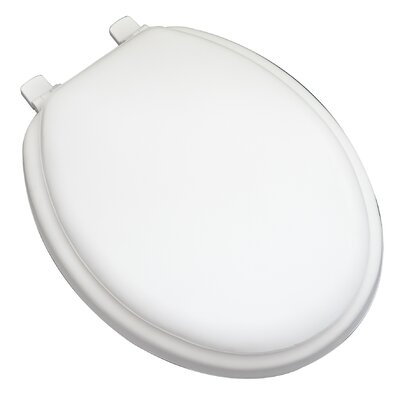 Deluxe Soft Elongated Toilet Seat Finish: White