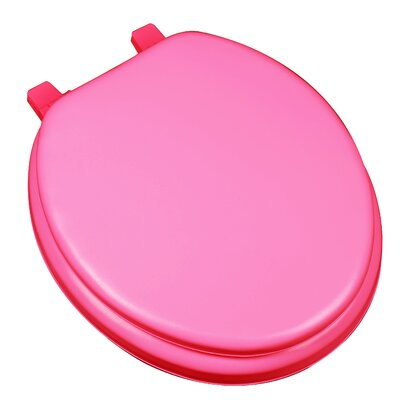Deluxe Soft Round Toilet Seat Finish: Red