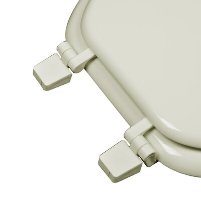 Molded Wood Closed Front Elongated Toilet Seat Finish: Biscuit