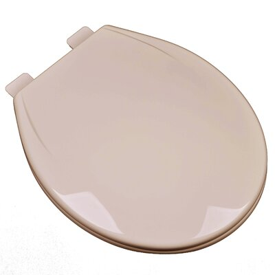 Slow Close Plastic Contemporary Round Toilet Seat Finish: Fawn Beige