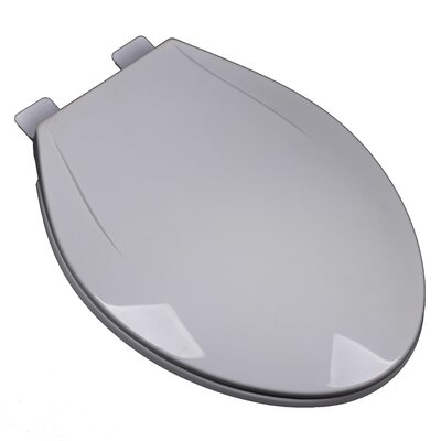 Slow Close Plastic Contemporary Elongated Toilet Seat Finish: Silver/Gray
