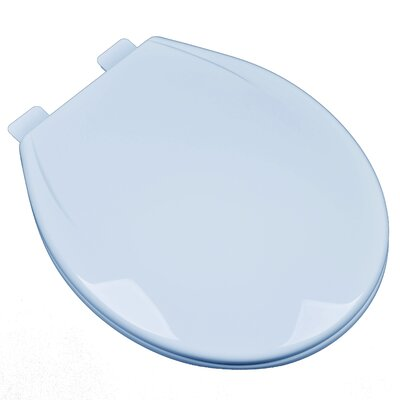 Slow Close Plastic Contemporary Round Toilet Seat Finish: Dresden Blue