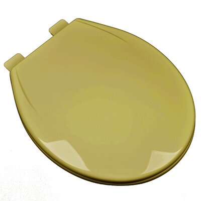 Slow Close Plastic Contemporary Round Toilet Seat Finish: Harvest Gold