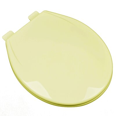 Slow Close Plastic Contemporary Round Toilet Seat Finish: Citron Yellow