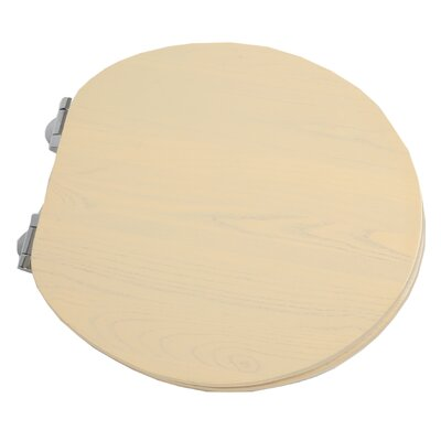 Contemporary Full Cover Solid Oak Wood Round Toilet Seat Finish: Antique White