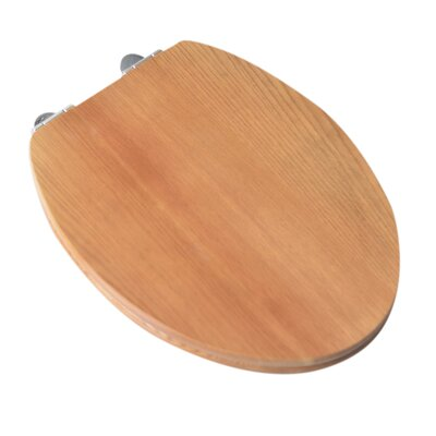 Contemporary Full Cover Solid Oak Wood Elongated Toilet Seat Finish: Natural Oak