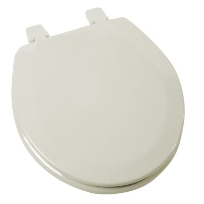 Deluxe Molded Wood Round Toilet Seat Finish: Bone