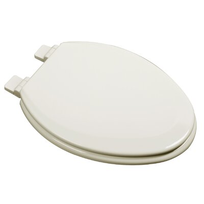 Slow Close Deluxe Molded Wood Elongated Toilet Seat Finish: Bone