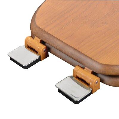 Wood Decorative Elongated Toilet Seat Finish: Dark Brown, Hinge Finish: Brushed Nickel