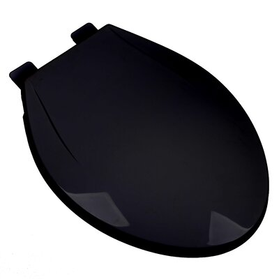 Slow Close Plastic Contemporary Elongated Toilet Seat Finish: Black