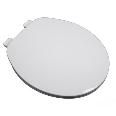 Builder Grade Plastic Round Toilet Seat Finish: White
