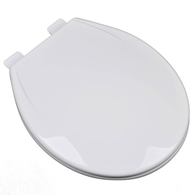 Slow Close Plastic Contemporary Round Toilet Seat Finish: White